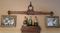 Antique Horse Yoke With Hanging Family Photos