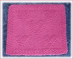 Valentine Free Knit Dishcloth Pattern