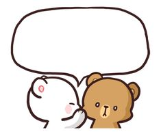 Send messages to your loved ones using these Milk & Mocha message stickers! Make your chat more fun! Message stickers currently require LINE and above for smartphones, and only work in chats. Cute Cartoon Images, Cute Love Cartoons, Cute Cartoon Wallpapers, Message Stickers, Cute Stickers, Cute Bear Drawings, Cute Cartoon Drawings, Calin Gif, Doodles Bonitos