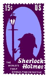 Interesting US postage stamp that features Sherlock Holmes!