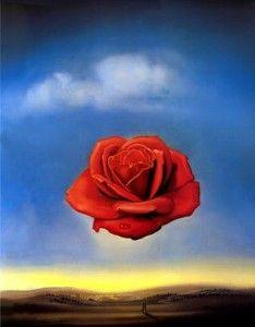 'Meditative Rose' Salvador Dali.  Art Experience NYC  www.artexperiencenyc.com/social_login/?utm_source=pinterest_medium=pins_content=pinterest_pins_campaign=pinterest_initial