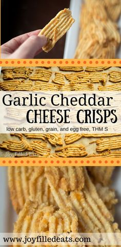Cheddar Garlic Cheese Crisps - Low Carb & Gluten Free THM (S)