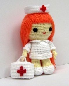 Amigurumi Nurse Pattern : 1000+ images about Broches y Stuff enfermeras on Pinterest ...