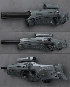 concept sci fi rifles | ... art objects weapons 2011 2013 peterku concept of sci fi rifle kodo