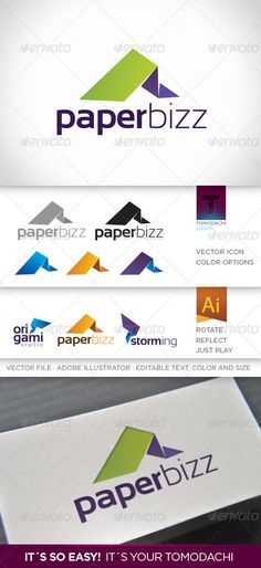 Paperbizz  Logo Design Template Vector #logotype Download it here: http://graphicriver.net/item/paperbizz-logo/554380?s_rank=1691?ref=nexion