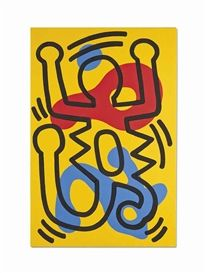 Artwork by Keith Haring, Untitled, Made of acrylic on canvas