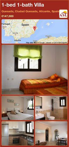 1-bed 1-bath Villa in Quesada, Ciudad Quesada, Alicante, Spain ►€147,000 #PropertyForSaleInSpain