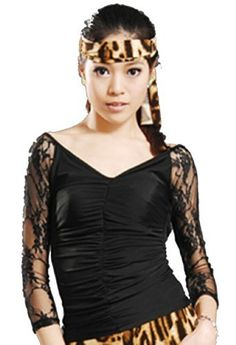 SGT02BK31 Women's Ballroom Latin Salsa Tango Swing Dance Blouse Top Star Dancewear. $25.00