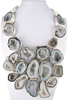 Charles Albert Necklaces - geodes set in silver
