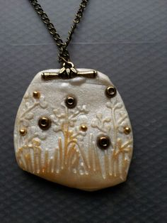 Polymer clay landscape pendant by Bhavna Mistry