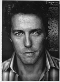 Hugh Grant photographed by Mark Seliger in New York on August 22, GQ, November 2002