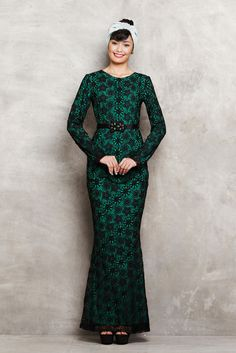 Embroidered Lace Baju Kurung – emel by Melinda Looi - Official Webstore