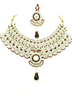 Checkout our #awesome product Bollywood Style Indian Imitation Necklace Set / AZBWBR030-GRD - Bollywood Style Indian Imitation Necklace Set / AZBWBR030-GRD - Price: $145.00. Buy now at http://www.arrascreations.com/bollywood-style-indian-imitation-necklace-set-azbwbr030-grd.html