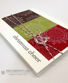Stampin up stampinup stamp it catalogs punch card idea holiday christmas