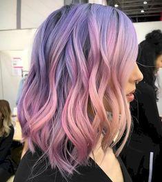 Ideen Haarstyling trends haarfarbe pastell