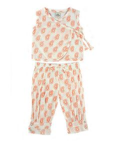 Look at this #zulilyfind! Child of the World White & Orange Lola Wrap Top & Pants - Toddler & Girls by Child of the World #zulilyfinds