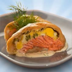 Baked Salmon in Puff Pastry | My Craftily Ever After