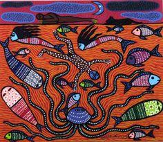 Silkscreen [...] by Manuel Mendive, 1985. CODA Museum, CC BY