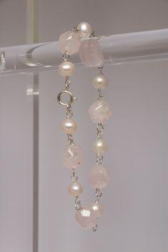 Rose quartz & pearl