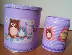 Trago aqui, ideias de como podem decorar latas.