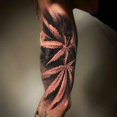 from @hugofeist -  Cannabis sativa #canabis #weed #ganja #inked #ink #realistictattoo #blackandgreytattoo #graphicart #tattoo #tatouage @fusion_ink @hyraw