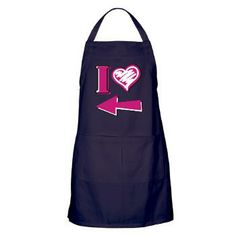 I heart - Pink Arrow Apron (dark)