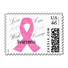 Breast Cancer Pink Ribbon Awareness & Support Stamps