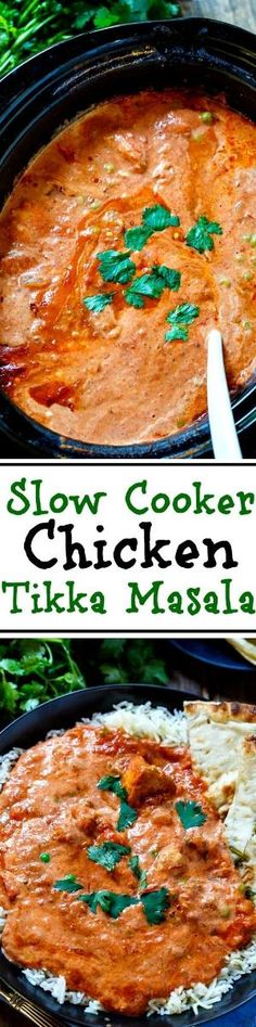 Slow Cooker Tikka Masala. With this easy recipe you can enjoy one of your Indian… by maricela ♛BOUTIQUE CHIC♛
