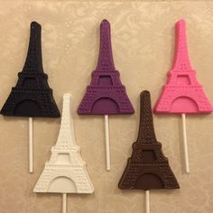 Paris Theme Party EIFFEL TOWER Chocolate Lollipops Perfect For Your Bridal…