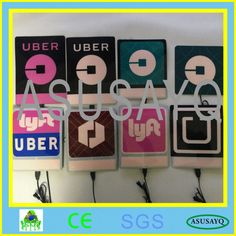 Uber El Flashing Car Window Sticker Glow luminous Light Uber Panel 13cm x 13cm