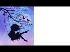Beginner Acrylic tutorial | Cherry Blossom Swing and Girl | Art Sherpa #coloroftheyearart - YouTube