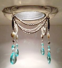 tuscany recessed light trim embellished with semi-precious stones