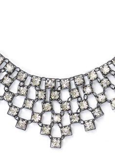 PROM ACCESSORIES | Squared Set Bib Necklace | Caché