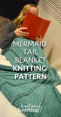 Knitting Patterns Mermaid Adult Mermaid Tail is a knitting pattern for a Mermaid Tail Blanket. This tail is knit in the rounds. Mermaid Blanket Pattern, Mermaid Tail Pattern, Mermaid Knitted Blanket Pattern, Mermaid Tail Knitting Pattern, Knit Mermaid Tail, Blanket Yarn, Knitted Baby Blankets, Knitted Afghans, Weighted Blanket