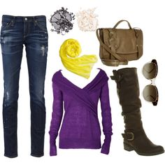 Washington, created by #abby-tobias on #polyvore. #fashion #style AG Adriano Goldschmied See by Chloe