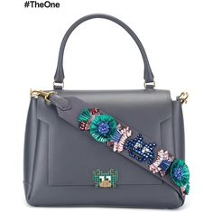 Anya Hindmarch Arcade Embellished Medium Tote ($2,748) ❤ liked on Polyvore featuring bags, handbags, tote bags, grey, grey handbags, gray purse, gray handbags, grey purse and embellished purses