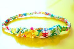 cute fabric headband - great way to use up leftover fabric and have a headband that matches your outfit