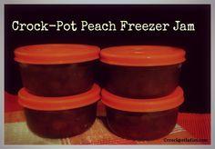 Crock-Pot Peach Freezer Jam - via CrockPotLadies.com