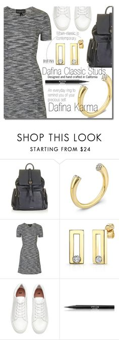 """""""DAFINAJEWELRY.com (casual)"""" by beebeely-look ❤ liked on Polyvore featuring Topshop, Stila, casual, jewelry, casualoutfit, backpacks and dafinajewelry"""