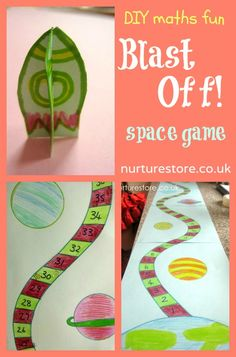 Blast off! Space game - adapt for different objectives, ages and levels.