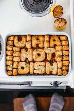 harissa chickpea hotdish (vegan!)