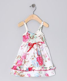 Take a look at this White Romantic Rose Lily Dress - Toddler by Mad Sky on #zulily today!