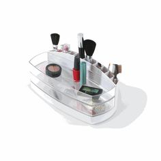 Compaca Cosmetic Organizer by Umbra® Cosmetic Box, Cosmetic Storage, Cosmetic Display, Make Up Storage, Storage Caddy, Vanity Organization, Organization Station, Dorm Life, College Life