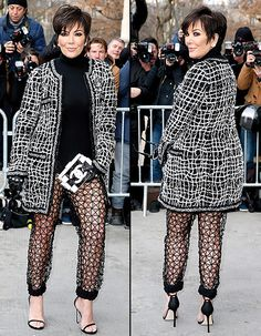 Kris Jenner attends the Chanel show as part of Paris fashion week Haute Couture Spring/Summer 2015 on January 27, 2015.