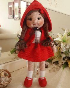 Crochet Mittens, Crochet Pillow, Crochet Beanie, Crochet Toys, Amigurumi For Beginners, Cat Amigurumi, Barbie, Crochet Bookmarks, Red Riding Hood