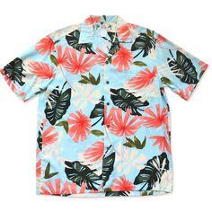 Hana Blue Hawaiian Rayon Shirt   #hawaiianshirts #floralshirt #alohashirt #hawaiianshirt #madeinhawaii