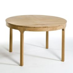 Table haute forme ronde en bois massif design - Table massif rallonge ...