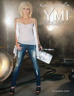 Kimberly Caldwell: New face of YMI Jeanswear - Denimology Short Scene Hair, Short Hair Cuts, Short Hair Styles, Easy Mom Hairstyles, Bob Hairstyles, Layered Bob Haircuts, Layered Hair, Kimberly Caldwell, My Hairstyle
