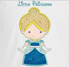 Personalized Little Princess Cinderella T shirt by stitchcottage