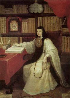 Retrato de Sor Juana Inés de la Cruz (1751) Miguel Cabrera (1695-1768) fue el pintor mexicano considerado como uno de los máximos exponentes de la pintura Barroca novohispana.